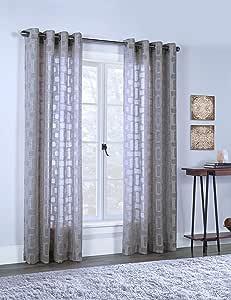 Commonwealth 家居时尚窗帘,窗帘,窗帘 灰褐色 50x63 71512-109-63-517