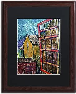 "Trademark Fine Art Canterbury Kent by Lowell S.V. Devin Wood Frame, 16"" x 20"", Black Matte"