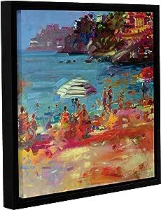 "Tremont Hill Peter Graham""摩纳哥海岸,2000""画廊装裱地板框油画,18X18"