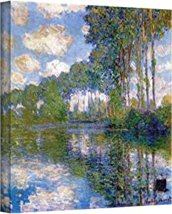 Art Wall Trees Gallery Wrapped Canvas by Claude Monet, 24 by 32-Inch