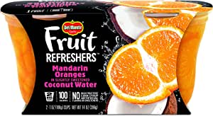 Del Monte Fruit Refreshers Snack Cups, Mandarin Oranges in Coconut Water, 2 Cups, 7-Ounce (Pack of 6)