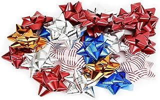 圣诞礼物蝴蝶结*套装 - 72 个装即剥即贴假日礼品蝴蝶结,混色 多种颜色 1包 73600