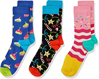 Happy Socks 中性款婴儿生日快乐礼物盒袜子(3件装)