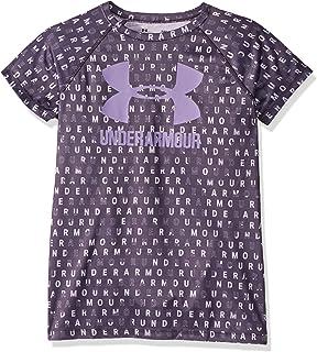 Under Armour 女童大徽標 T 恤新穎短袖襯衫 Nocturne Purple (595)/Flight Purple 青少年中碼