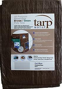 Kotap 30-ft x 40-ft Reversible Brown/Green Poly Tarp, Item: TBG-3040