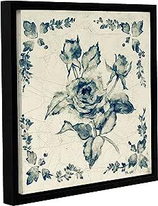 "Tremont Hill Cheri Blum""Swedish Tile II""画廊包边浮雕带框油画 蓝色 14X14"" 2blu059a1414f"