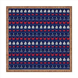 Deny Designs Robert Farkas 夏季图案室内/室外方形托盘 中 51173-tsqumd