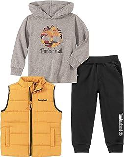 Timberland 添柏岚男孩3件套蓬松背心套装
