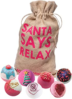 Bomb Cosmetics Santa Says Relax 手工希腊洗澡玩具礼包 [7 x 160g]