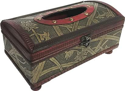allgala 复古奢华装饰木盒 Archtop Tissue HD90204