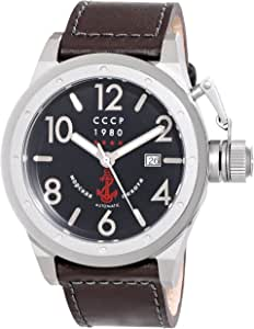 CCCP Men's CP-7017-01 Delta Analog Display Japanese Automatic Black Watch