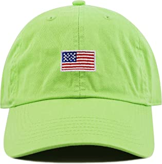 THE HAT DEPOT 儿童美国国旗水洗低调棉牛仔棒球帽