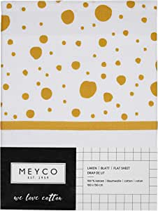 Meyco 433013 床单 带信封 DOTS OCKERGELB 75 × 100 厘米