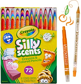 Crayola 旋转香味蜡笔和彩色铅笔,72 支装