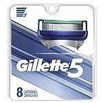 Gillette 5 男士剃须刀刀片替换装,8 支装