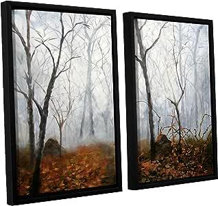 "ArtWall 2 Piece ""Marina Petro's Autumn Mist"" Floater Framed Canvas Artwork, 24"" x 36"""