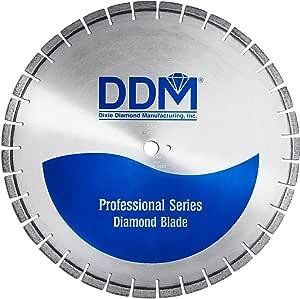 Dixie 钻石制造 C453026155R 专业湿切割固化混凝土刀片,66.04 厘米 x 1.27 厘米