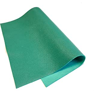 荔枝纹皮革羊皮缝纫 薄荷绿 8x10In/ 20x25cm Pubbled Leather