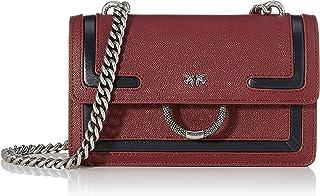 PINKO 女士 Mini Love New 1 单肩包,6x12.8x20.8 厘米 Mehrfarbig (Bordeaux/Antracite) 6x12.8x20.8 centimeters (W x H x L)