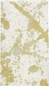 Hand Towels Bathroom Paper Guest Towels Gold Bathroom Accessories Splatterware 金色 15份
