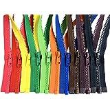 混色 Ykk #5 粘胶纤维分离夹克拉链缝纫外套夹克 - 塑料拉链 5 或 10 种颜色混合 30 Inches 10pcs VS OL-56 DA E 0000112