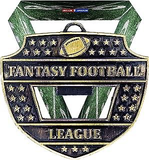 幻想足球联赛*章开瓶器 - 7.62 cm 宽 FFL 徽章带橄榄球主题 V 领丝带 - 周年纪念