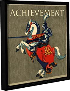 "ArtWall 1bma001a1818f ""Bridgeman 's Achievement Illustration, 1923"" Gallery Wrapped Floater Framed Canvas Art, 18"" by 18"""
