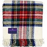 苏格兰王子高地格子花呢 * 纯羊毛蓬松围巾 Dress Stewart J4050028-013