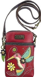 Chala Hummingbird Cellphone Crossbody Handbag - Convertible Strap
