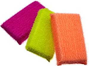 Casabella Scrub Sponge, 3-Pack, Assorted Colors