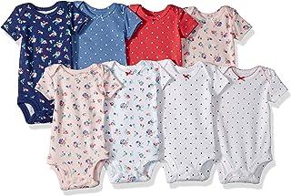 Carter ' s 婴儿女童8件装短袖紧身衣