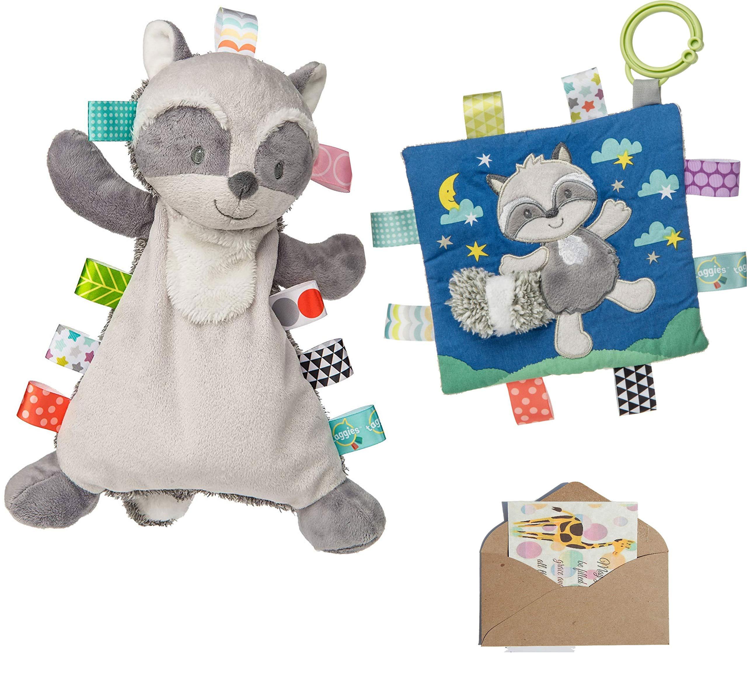 TAGGIES 哈雷浣熊可爱和褶皱玩具 - 赠送迷你卡片-3 件物品