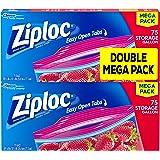 易打开标签 - 冰箱加仑 - 152 个袋 2 Pack, 75 ct 150