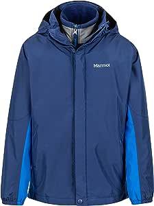 Marmot Northshore 男孩防水连帽雨衣,带可拆卸羊毛内衬 X大码 蓝色 40430