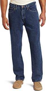 Lee Men's Relaxed Fit Straight Leg Jean, Medium Stone, 30W x 30L