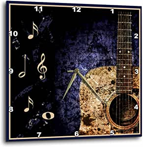 3dRose dpp_14878_2 Guitar Passion-Wall Clock, 13 by 13-Inch