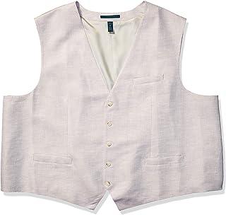 Perry Ellis 男士亚麻西装背心 淡色(Natural Linen) 5X Large Tall