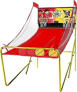Franklin Sports Ryans World 街机篮球 - 室内篮球投篮 - 2 名玩家 - 包括电子记分板和 4 个迷你篮球