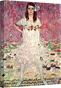 """ArtWall Gustav Klimt's Anticipation Gallery Wrapped Canvas, 18 by 36"""""""