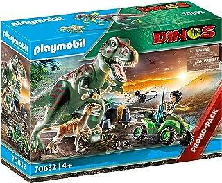 PLAYMOBIL 70632 T-Rex 攻击,4 岁以上适用