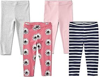 Amazon Brand - 斑马 女童 幼童 & 儿童 4 条装七分裤打底裤