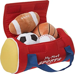 Baby GUND My First Sports Bag 毛绒填充玩具套装, 5件, 8英寸/约20.32厘米