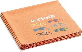 电子布眼镜布用于清洁眼镜和太阳镜 - *地消除灰尘、指纹、眼镜上的污迹 橙色 3 Pack 12623T3