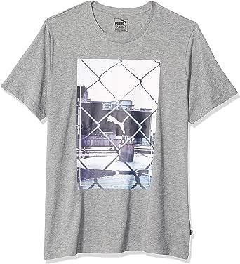 PUMA 男士 Photoprint T 恤 中度杂灰色 Small