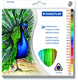 Staedtler Mars Triangular EZ Grip Colored Pencil Assorted (24 Color)