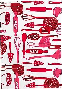 茶毛巾 - 洗碗布 - * 纯棉,*吸水性 - 45.72 cm x 71.12 cm - Kosher Cook 提供的彩色厨房工具 红色 kosher_cook_06462_EU