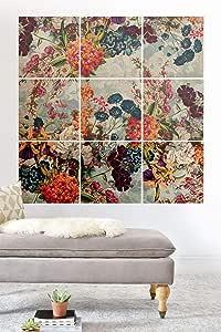 Society6 Burcu Korkmazyurek 夏季植物花园 VIII 木质壁画,7.62 cm x 7.62 cm,多色 多种颜色 3' x 3' 70463-wwmr01