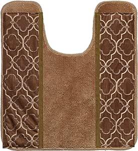 流行浴帘,主轴系列,177.8 x 182.88 厘米,金色 U 形地垫 824506