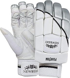 Newbery Cricket 中性青年幻影击球手套,白色/银色,小号高级