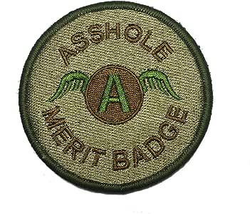 3 英寸 Multicam Asshole Merit 徽章战术钩/环士气补丁